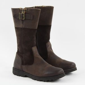 Timberland Maplebrook Girl Zip Buckle Leather Boot